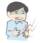 お腹が痛い男性のイラスト
